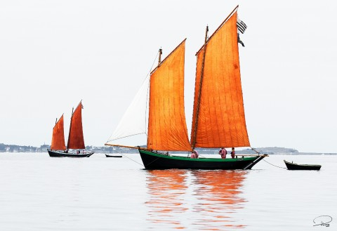 Photo Sinagot, traditional sailing par Philip Plisson