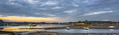 Photo The Crac'h river in Morbihan - Brittany par Philip Plisson