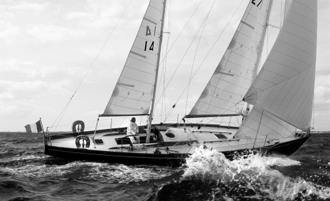 Photo Pen Duick II, Eric Tabarly's victory in the 1964 Transat par Philip Plisson
