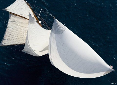 Photo The Altaïr schooner all sails out par Gilles Martin-Raget