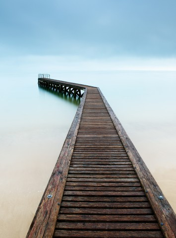Photo Footbridge, Grandcamp-Maisy, Normandy par Emmanuel Deparis