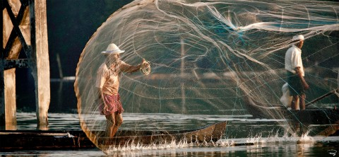 Photo Small-scale fishing in Cochin, India par Philip Plisson