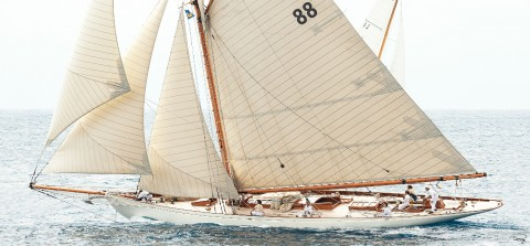 Photo Moonbeam III, yacht de tradition, aussi apelé Moonbeam of Fife par Philip Plisson