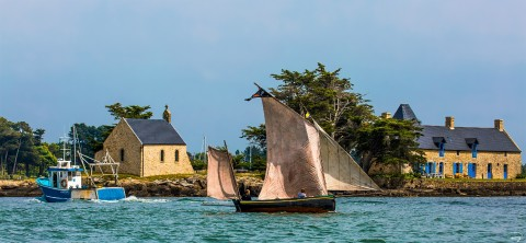 Photo Old rigging in the Gulf of Morbihan, Brittany par Philip Plisson