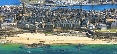 Photo Saint-Malo intra-muros, Ille-et-Vilaine, Bretagne par Philip Plisson