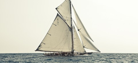 Photo Mariquita, yacht de tradition, plan William Fife III par Guillaume Plisson