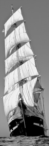 Photo The three-masted Belem, all sails out par Philip Plisson