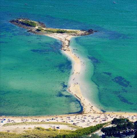 Photo Plage du Men Du vue du ciel, Morbihan, Bretagne par Philip Plisson