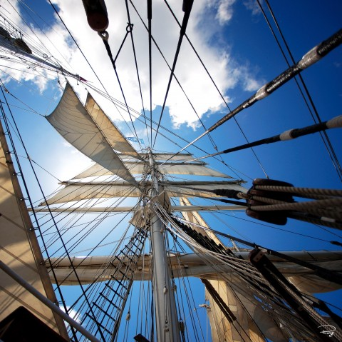 Photo Onboard the Belem, three-masted barque par Philip Plisson