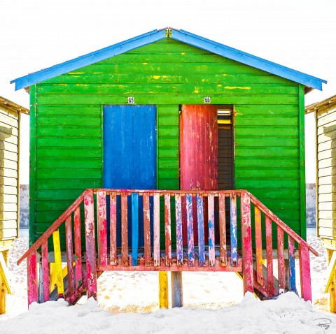 Photo Green beach hut, South Africa par Philip Plisson