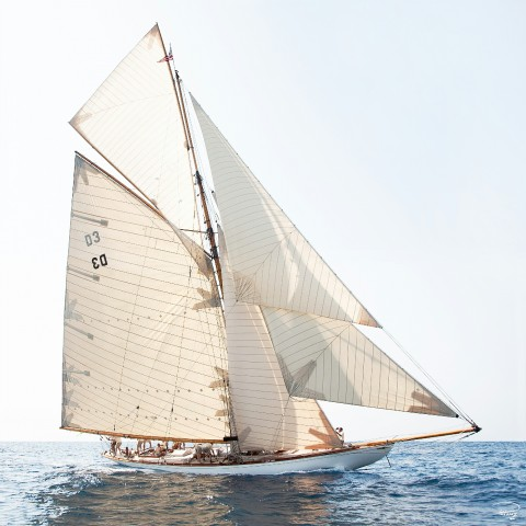 Photo Tuiga, classique yacht par Philip Plisson