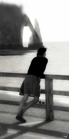 Photo The lady from Etretat, Normandy par Philip Plisson