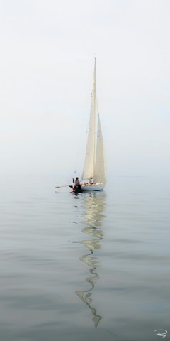 Photo 6 meter JI, classic yacht par Philip Plisson