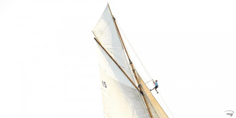 Photo Mast head, classic yacht par Philip Plisson