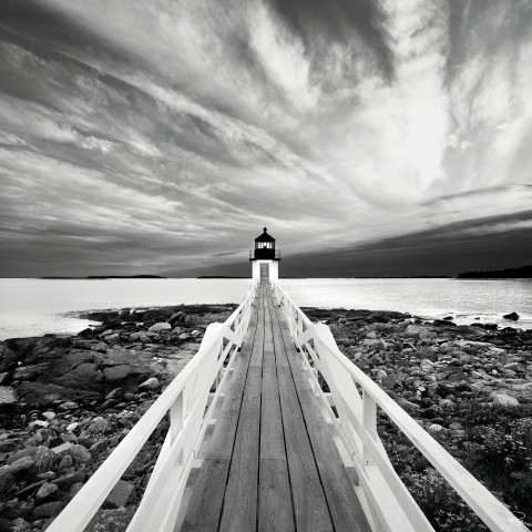 Photo Marshall Point light in Maine, USA par Philip Plisson