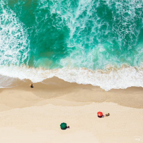 Photo On Copacabana Beach in Brazil par Philip Plisson