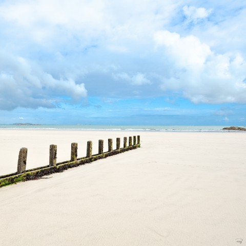 Photo Saint-Malo, plage du Sillon, Bretagne par Philip Plisson