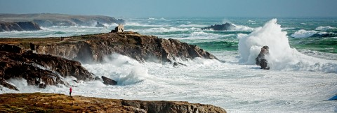 Photo Gust of wind on Quiberon peninsula, Brittany par Philip Plisson