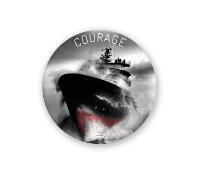 Photo Magnet rond, Courage par Philip Plisson