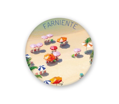 Photo Magnet rond, Farniente par
