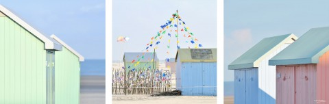 Photo Beach huts, North sea par Georges-Félix Cohen