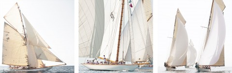 Photo Trio classic yacht par Philip Plisson