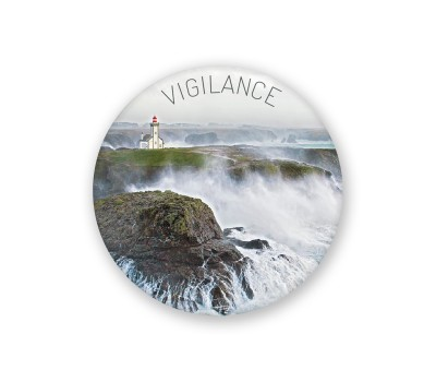 Photo Magnet rond, Vigilance par Philip Plisson