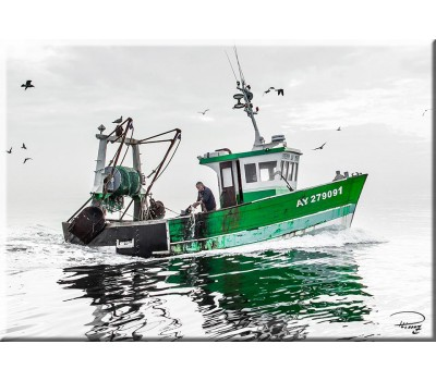 Photo Magnet, green fishing boat par Philip Plisson