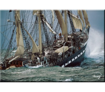 Photo Magnet, three-masted barque Belem par Philip Plisson