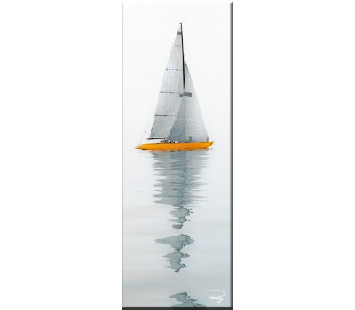 Photo Magnet, 6 metres, yellow hull par Philip Plisson
