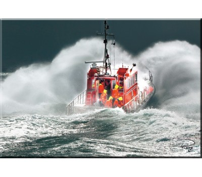 Photo Magnet, bateau de sauvetage par Philip Plisson