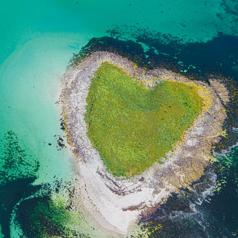 Photo Le coeur des Glénan par Philip Plisson