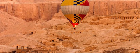 Photo Egypt seen from the sky, the valley of the kings par Philip Plisson