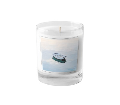Photo Candle, small boat at anchor par Philip Plisson